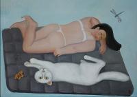 Женщина и кот